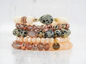 Erimish Bracelet Set Canvas Bracelet Stack