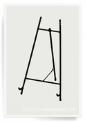 Classic Black Iron Gallery Easel For Decoupage Trays - 13 inch