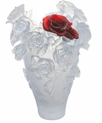 Daum Crystal White and Red Bouquet Magnum - Limited edition of 50 pieces - Guaranteed Lowest Price