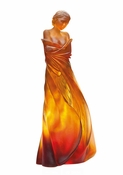 Daum Crystal L'Hiver en Soi Amber - Guaranteed Lowest Price