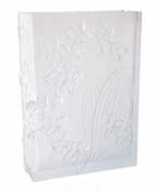Daum Crystal Orchid White Magnum Vase - Guaranteed Lowest Price