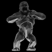 Daum Crystal Richard Orlinski's Black Wild Kong - Limited Edition of 99 - REWARDS BONUS APPLIES