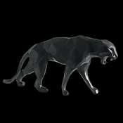 Daum Crystal Richard Orlinski's Black Wild Panther - Limited Edition of 99 - Guaranteed Lowest Price