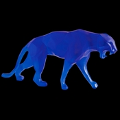 Daum Crystal Richard Orlinski's Blue Wild Panther - Limited Edition of 99 - Guaranteed Lowest Price