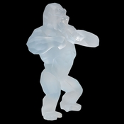 Daum Crystal Richard Orlinski's White Wild Kong - Limited Edition of 99 - Guaranteed Lowest Price
