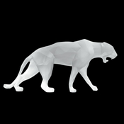 Daum Crystal Richard Orlinski's White Wild Panther - Limited Edition of 99 - Guaranteed Lowest Price