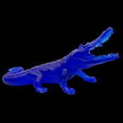 Daum Crystal Richard Orlinski's Wild Blue Crocodile - Limited Edition of 99 - Guaranteed Lowest Price