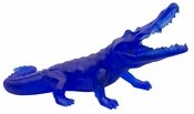 Daum Crystal Richard Orlinski's Wild Blue Crocodile - Limited Edition of 99