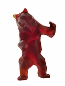 Daum Crystal Wild Bear Dark & Amber - Guaranteed Lowest Price