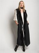 Diago Long Vest Black