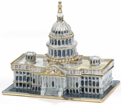 Enameled & Jeweled Capitol Building Box