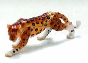 Enameled & Jeweled Cheetah Box