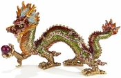 Enameled & Jeweled Extra Large Dragon Box