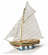 Enameled & Jeweled Large Sailboat Box
