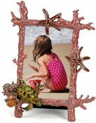 Enameled & Jeweled  Sea Turtle Coral Frame - closeout