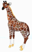 Enameled & Jeweled Standing Giraffe Box