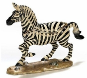 Enameled & Jeweled Zebra Box