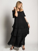 Esmeralda Long Dress Black