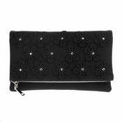 Flowers Convertible Clutch Black - SPECIAL