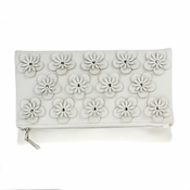 Flowers Convertible Clutch White - SPECIAL