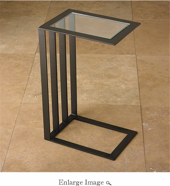 Global Views Canteliever Side Table Bronze
