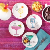 Happy Hour Appetizer Plates Set Of 4