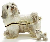 Havanese Dog Box With Necklace