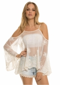 Ivory Cold Shoulder Top - Ivory