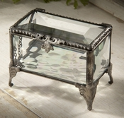 J Devlin Art Glass Box Beveled Box-Oblong