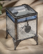 J Devlin Art Glass Box Vintage & Bl Friend-rd