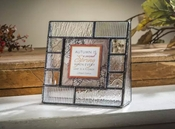 J Devlin Art Glass 3x3 Picture Frame Clear Textures