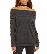Jesse Off-The-Shoulder Knit Top
