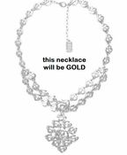 Karine Sultan Neck Gold Greek Inspired - CLOSEOUT