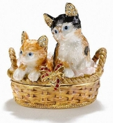 Kittens In Basket Box