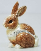 Enameled & Jeweled Rabbit Box