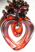 Lalique Coeur Pendant Red - CLOSEOUT FINAL SALE