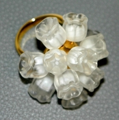 Lalique Muguet Ring 8 - CLOSEOUT FINAL SALE