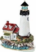 Lighthouse With Red Roof Box