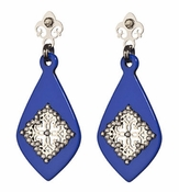 LK Jewelry Silver & Blue Montana Earrings
