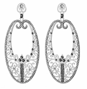 LK Jewelry Silver Ellipse Earring