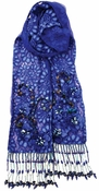 Mary Frances Cobalt Scarf: 2-3 DAY SHIP