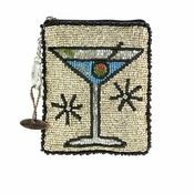 Mary Frances Cocktail Hour Coin Purse