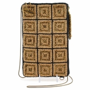 Mary Frances Cross Body Phone / Glasses Pouch Off The Grid Gold