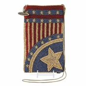 Mary Frances Cross Body Phone / Glasses Pouch Patriotic