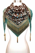 Mary Frances Lotus Scarf Batik - 20% OFF TODAY