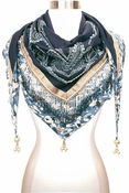 Mary Frances Lotus Scarf Blue Moon - 2 to 3 DAY FREE SHIP