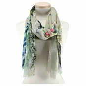 SOLD OUT Mary Frances Peacock Scarf