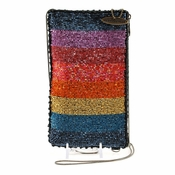 Mary Frances Rainbow Cell Phone Glasses Pouch