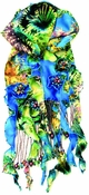 Mary Frances Sea Reef Scarf: 2-3 DAY SHIP
