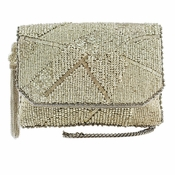 Mary Frances Silver Lining Mini Handbag